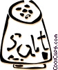Vector Clipart graphic  of a salt shaker