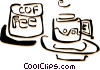 coffee cups Vector Clip Art graphic