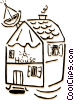 Vector Clip Art graphic  of a house/home