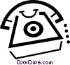 Vector Clip Art image  of a home telephones