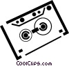 Vector Clip Art picture  of an audio tape