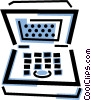 Vector Clip Art graphic  of a notebook/laptop computers
