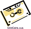 Vector Clipart image  of an audio tape
