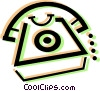 home telephones Vector Clipart picture