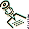 Vector Clip Art image  of a pushpin