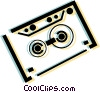 Vector Clip Art image  of an audio tape