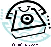 home telephones Vector Clipart illustration