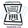 Vector Clipart image  of a notebook/laptop computers