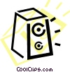 Vector Clip Art graphic  of an audio tape