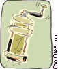 Vector Clip Art graphic  of a pepper mill