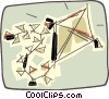 Vector Clip Art image  of a kite