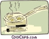 frying pan Vector Clipart image