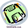 Vector Clip Art graphic  of a floppy disk