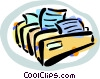 file folders with messages Vector Clipart image