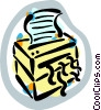 Paper shredder Vector Clip Art graphic