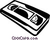 Vector Clip Art graphic  of a videotape