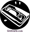 Vector Clipart picture  of a Videotapes