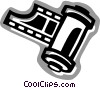 Vector Clip Art image  of a Film