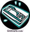 Vector Clip Art picture  of a Videotapes