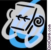 Vector Clipart illustration  of a rolodex