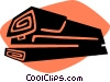 Vector Clip Art graphic  of a stapler