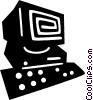 personal computers Vector Clipart picture