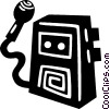 tape recorder Vector Clipart graphic