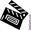 Vector Clip Art image  of a clapboard