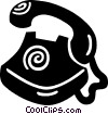 Vector Clipart image  of a home telephones