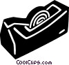 Vector Clip Art graphic  of a tape