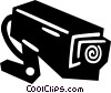 Vector Clip Art image  of a surveillance camera