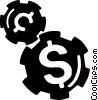 money gears Vector Clip Art picture