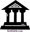 Vector Clip Art graphic  of a bank symbol