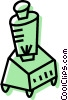 Vector Clip Art graphic  of a electric blender
