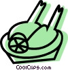 turkey dinner Vector Clip Art picture