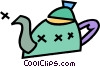Vector Clipart illustration  of a teapots