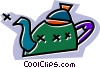 teapots Vector Clipart graphic