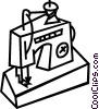 electric sewing machine Vector Clip Art image