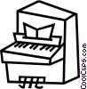Vector Clip Art image  of a piano
