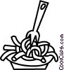 Vector Clipart picture  of a pasta dish