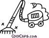 Vector Clipart illustration  of a vacuum cleaner