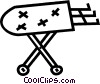 Vector Clip Art image  of a ironing board