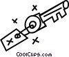 Vector Clipart graphic  of a keys