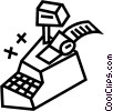Vector Clip Art image  of a cash register