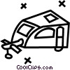 camper trailer Vector Clipart picture