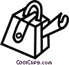 Vector Clip Art picture  of a suitcase