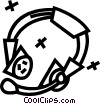 headset Vector Clipart graphic