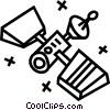 satellites Vector Clip Art graphic