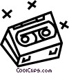 Vector Clipart graphic  of a tape cassette