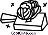 Vector Clipart picture  of a bread on a cutting board